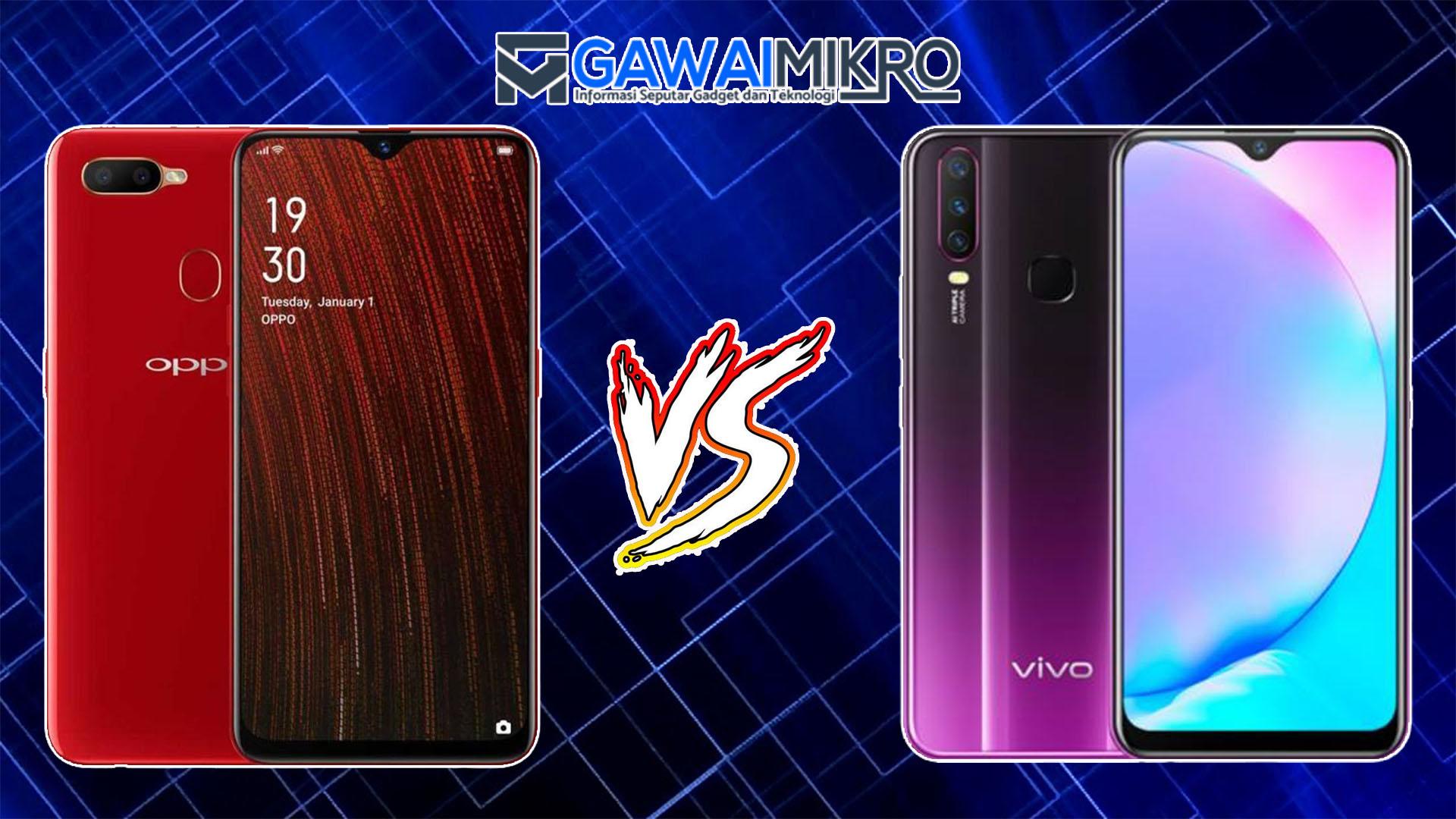 Perbandingan Handphone Oppo A5S vs Vivo Y12 | Gawai Mikro